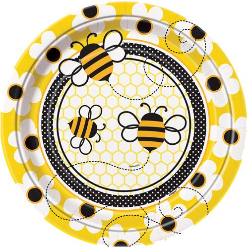 """9"""" Bumble Bee Party Plates, 8ct"""