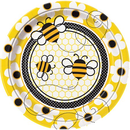 9 Bumble Bee Party Plates
