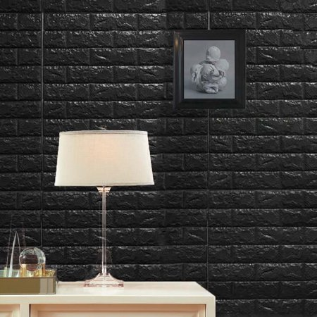 Efavormart 10 Pcs 58 Sq.Ft 3D Faux Foam Bricks Self-adhesive Waterproof Art Wall Panel