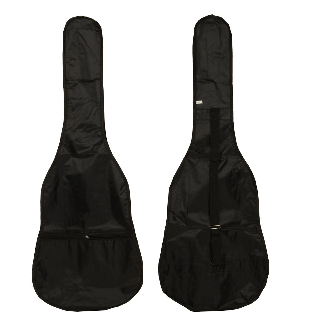 """Ktaxon 38"""" School Student Band Acoustic Guitar Gig Bag Soft Case Black Color"""