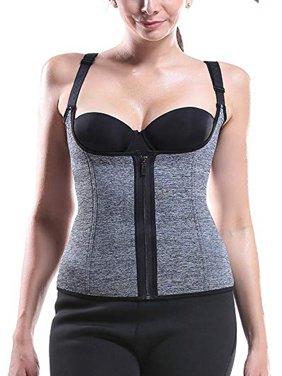 ffd56ef8ef SAYFUT Women Waist Trainer Corset Zipper Vest Body Shaper Ultra Firm Control  Tummy WYOB Shapewear for