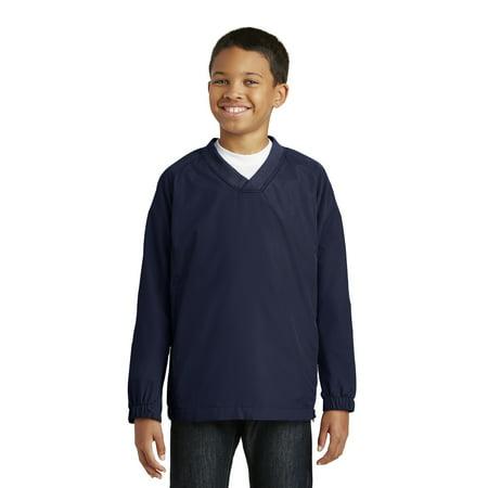 Sport-Tek® Youth V-Neck Raglan Wind Shirt. Yst72 True Navy Xl - image 1 de 1