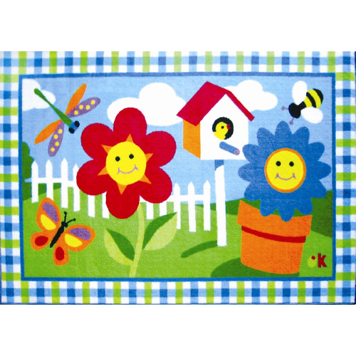 Fun Rugs Olive Kids Happy Flowers Area Rug