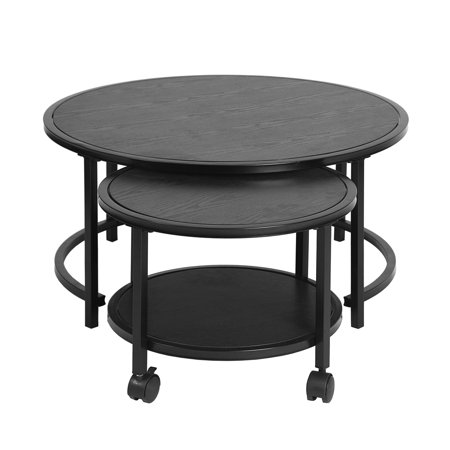 FurnitureR Coffee Table 2 Piece Set Round Top - image 2 of 7