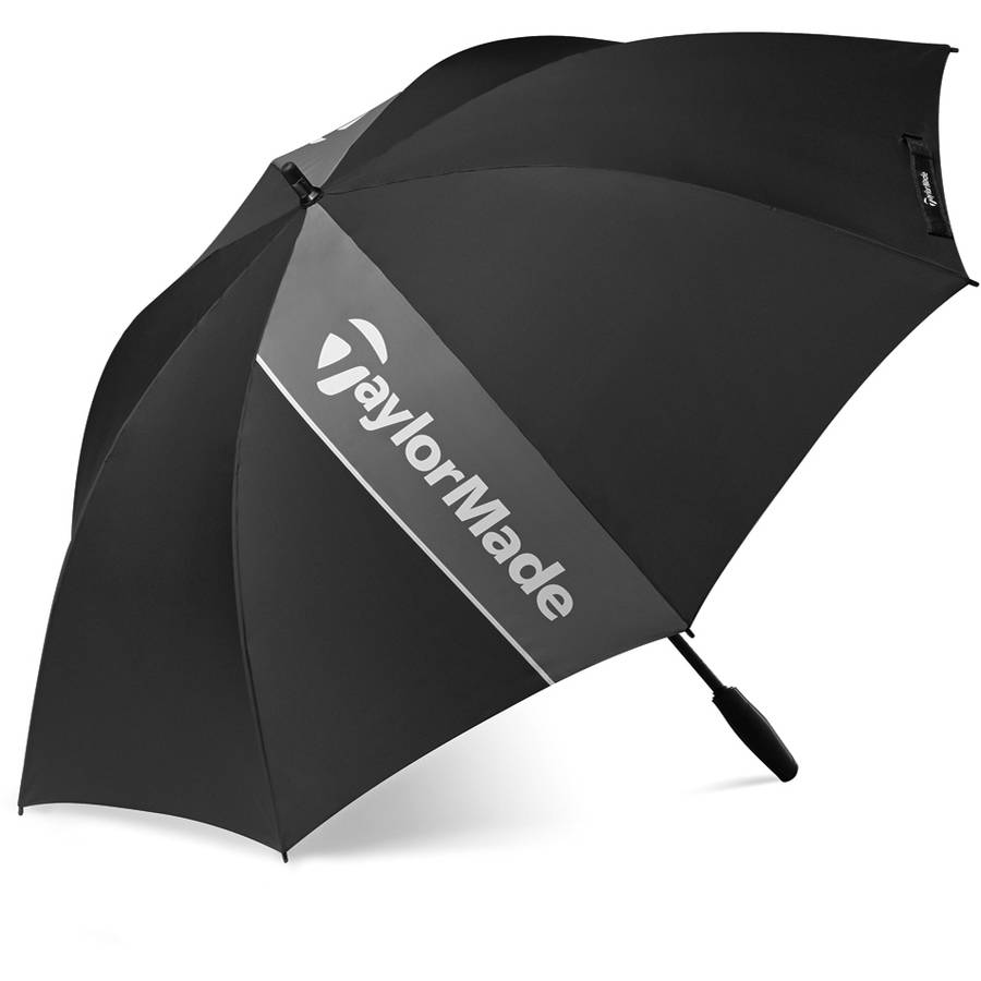 NEW TaylorMade Single Canopy Golf Umbrella Black / Grey /...