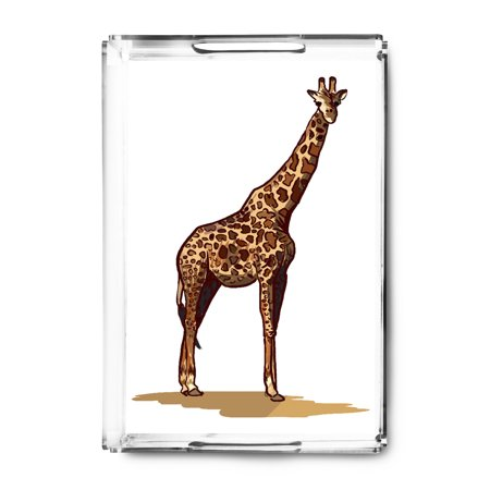 Giraffe - Icon - Lantern Press Artwork (Acrylic Serving (Giraffe Tray)