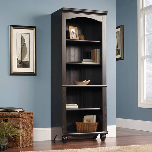 "Sauder Harbor View 72"" Library Bookcase, Multiple Finishes"