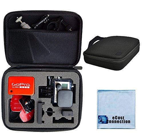 Premium Custom Medium Case for GoPro Hero Cameras with eCostConnection Microfiber Cloth