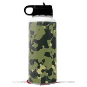 Skin Wrap Decal compatible with Hydro Flask Wide Mouth Bottle 32oz WraptorCamo Old School Camouflage Camo Army (BOTTLE NOT INCLUDED)