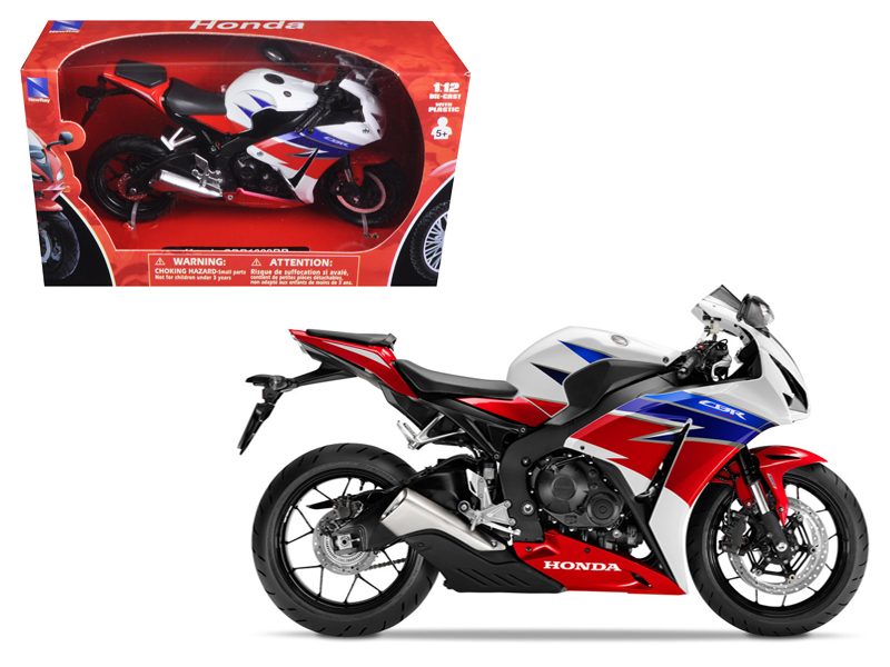 2016 Honda CBR100RR Red White Blue Black Motorcycle Model 1 12 by New Ray by New Ray