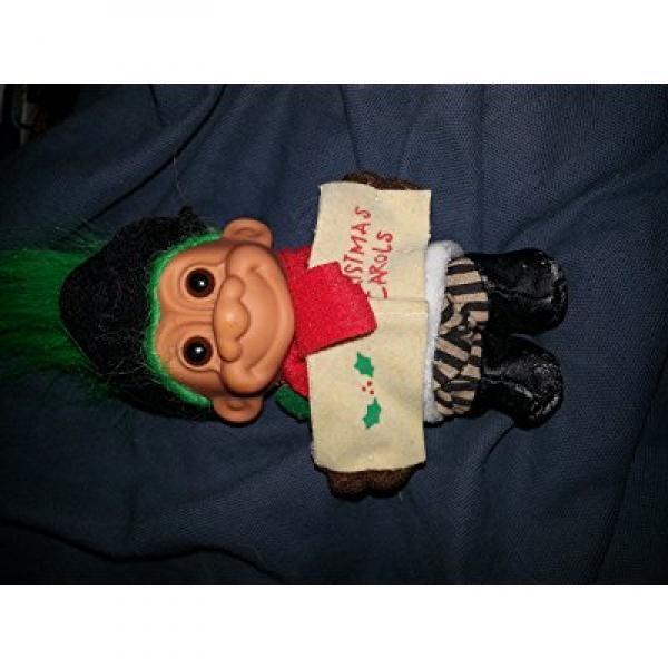My Lucky 6 Christmas Caroling Troll Doll Green Hair Walmart Com