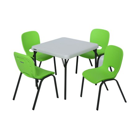 lifetime kids table and chair set lime green and almond. Black Bedroom Furniture Sets. Home Design Ideas