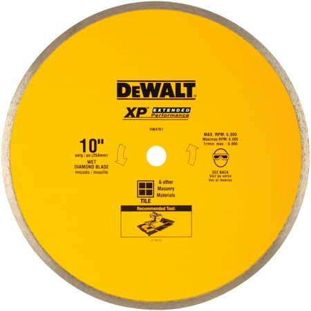 "DeWalt® XP™ Extended Performance 10"" Continuous Rim Wet Diamond Blade"