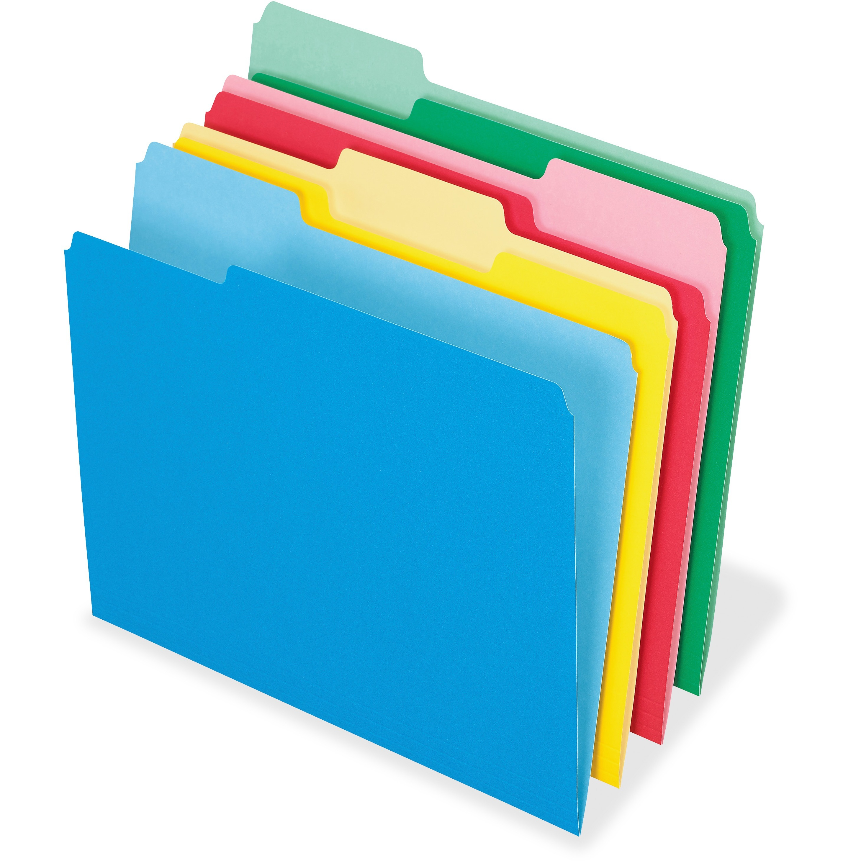 Pendaflex Clear Poly Index Folders Letter Assorted Colors 10//Pack 50981