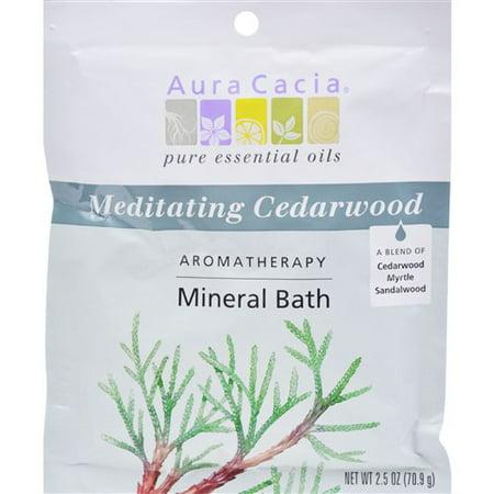 Meditation Mineral Bath (Aura Cacia Aromatherapy Mineral Bath Meditation - 2.5 oz - Case of 6 Aromatherapy)