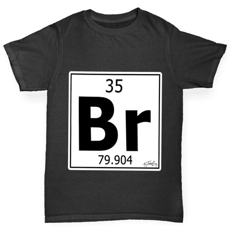 girls t shirt periodic table element br bromine novelty tees