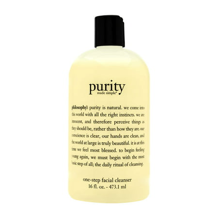 Philosophy Purity Made Simple One Step Facial Cleanser, Face Wash for All Skin Types, 16 Oz