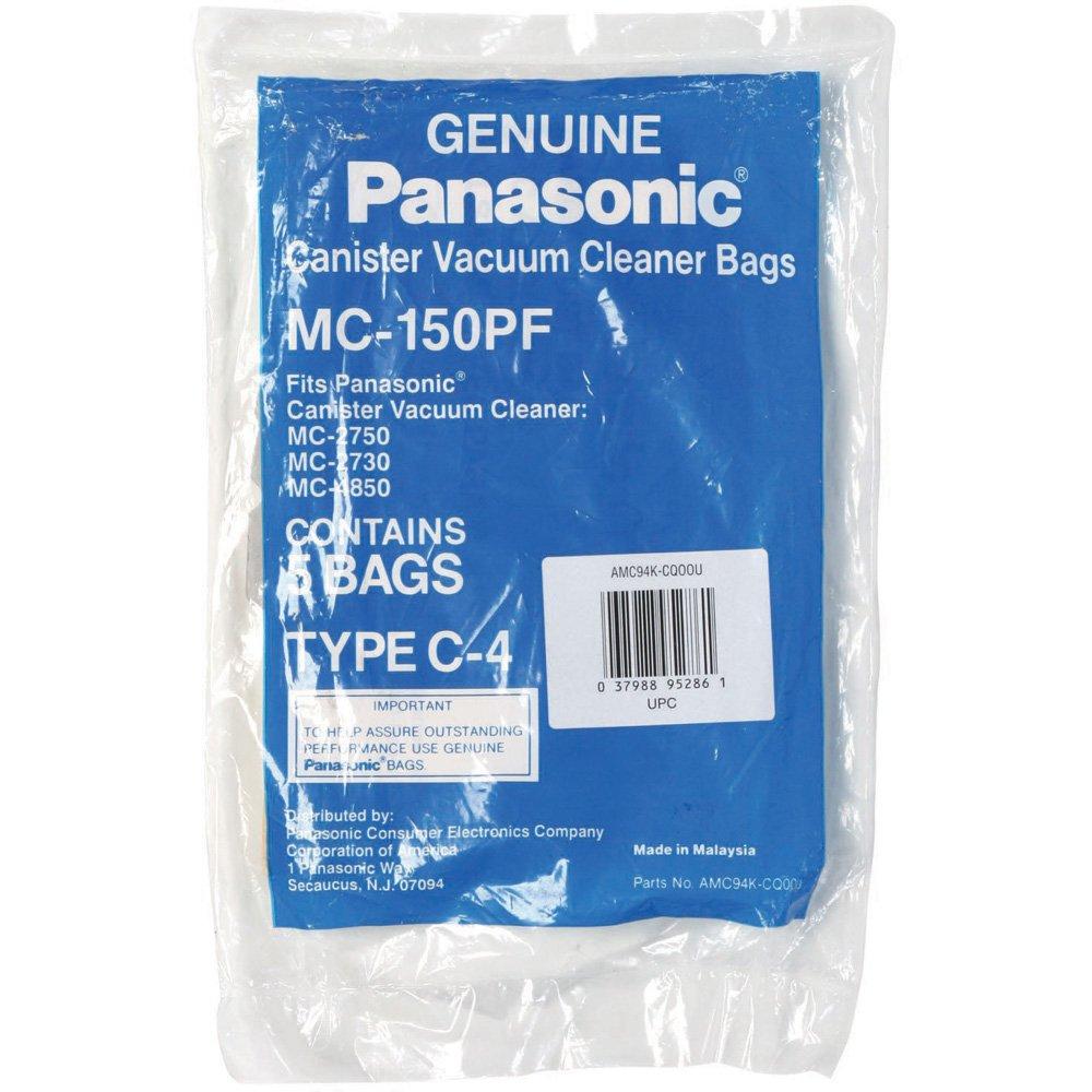 """Panasonic MC-150PF 5-Pack Of Canister Vacuum Bags"""