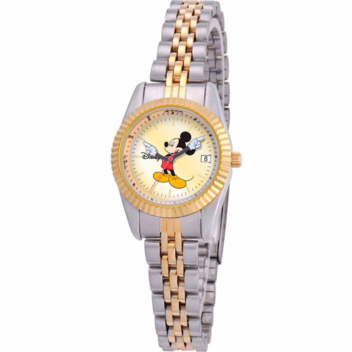Disney Mickey Mouse Women's Watch, Two-Tone Bracelet