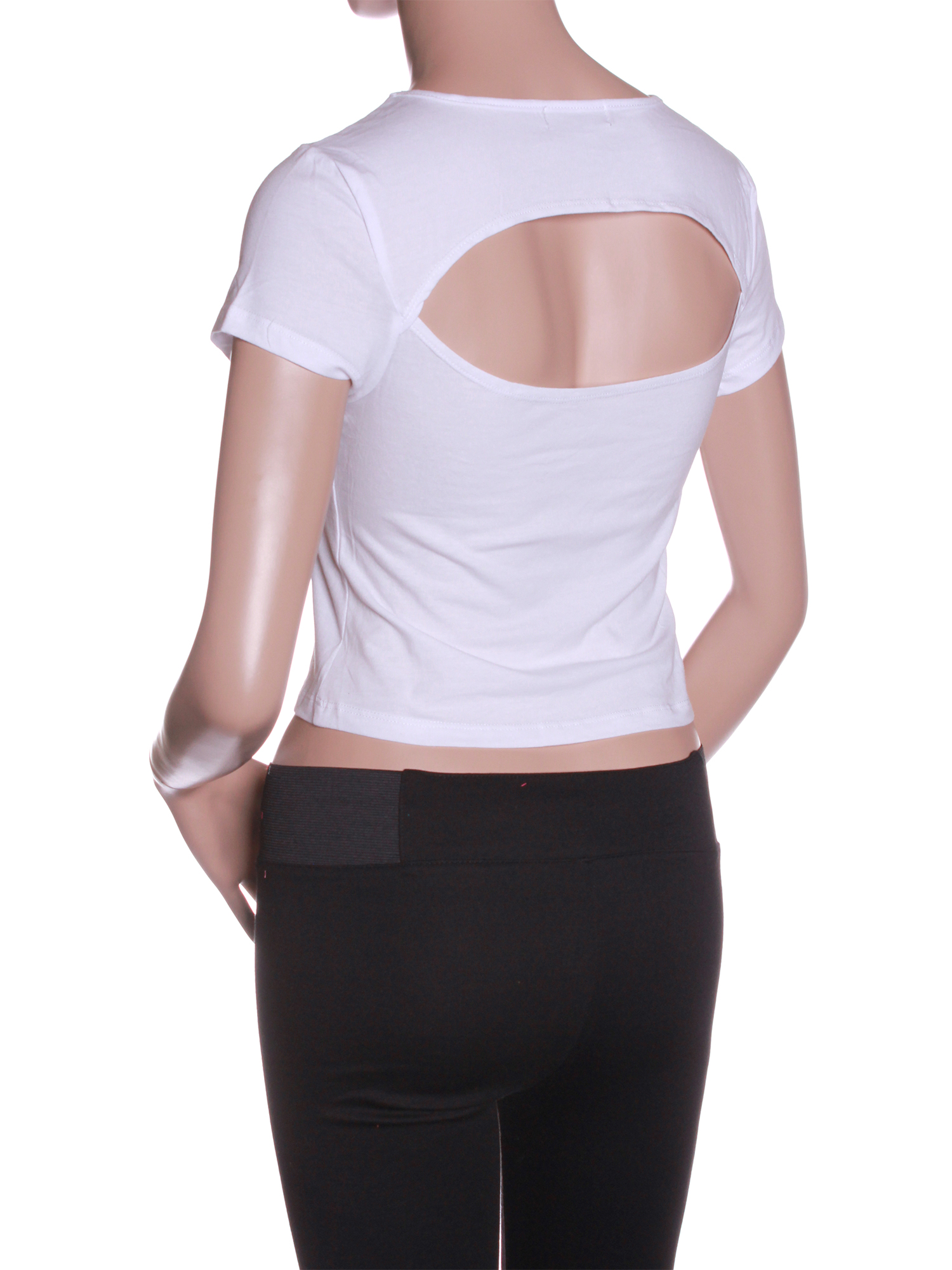 Emmalise Women Sexy Fashion Crop Top Tee Short Sleeves Shirt - Junior Sizes
