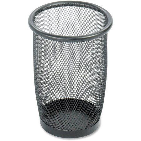 Mesh Round Wastebasket - Safco, SAF9716BL, Round Mesh Wastebaskets, 1, Black