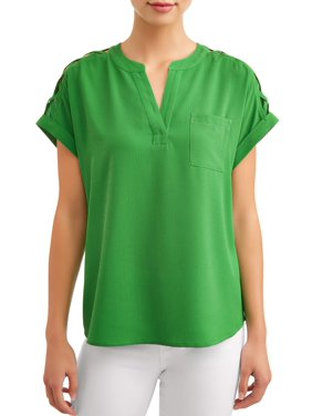 ce8006ab5be77 Product Image Women s Short Sleeve Shoulder Caging Top