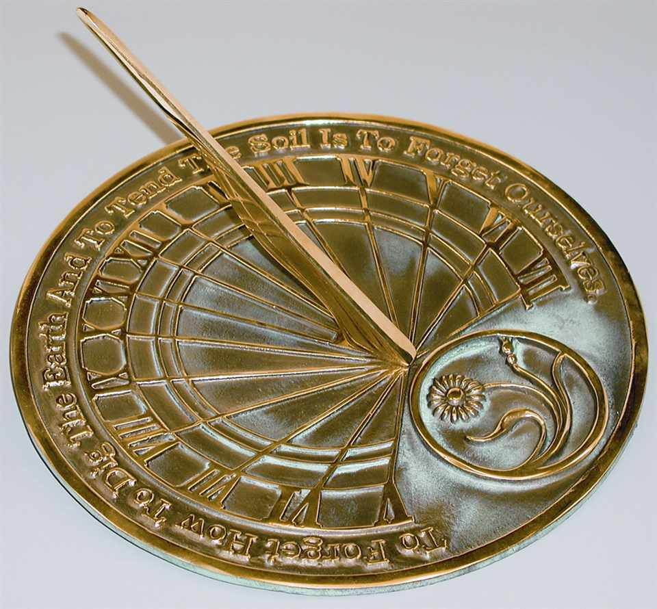 Gardeners' Reflection Sundial with Motto