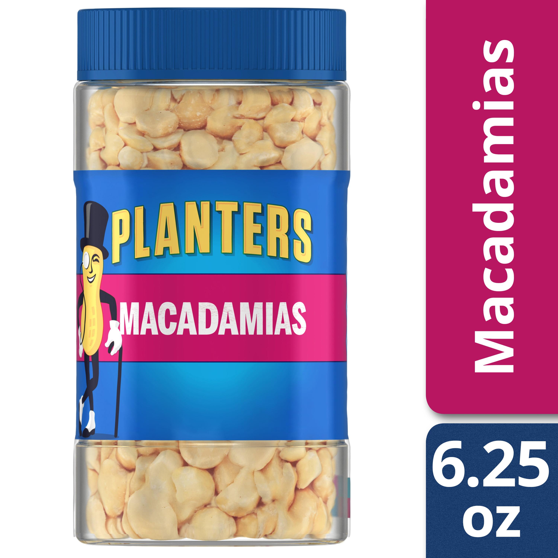 Planters Dry Roasted Salted Macadamias, 6.25 oz Jar