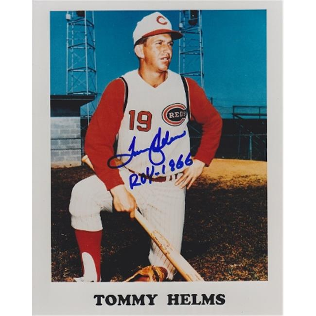 Tommy Helms Autographed Cincinnati Reds 8x10 Photo