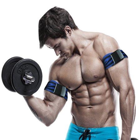 - BFR Bands Pro Blood Flow Restriction Occlusion Training Bands - Black/Blue