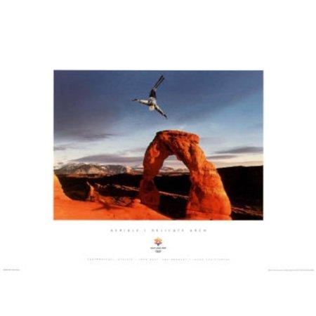 Aerials Delicate Arch 2002 Salt Lake City Olympics Mini Poster - 18x13