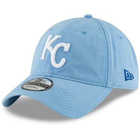 Kansas City Royals New Era Core Classic Secondary 9TWENTY Adjustable Hat - Light Blue - OSFA - Kansas City Royals Hats