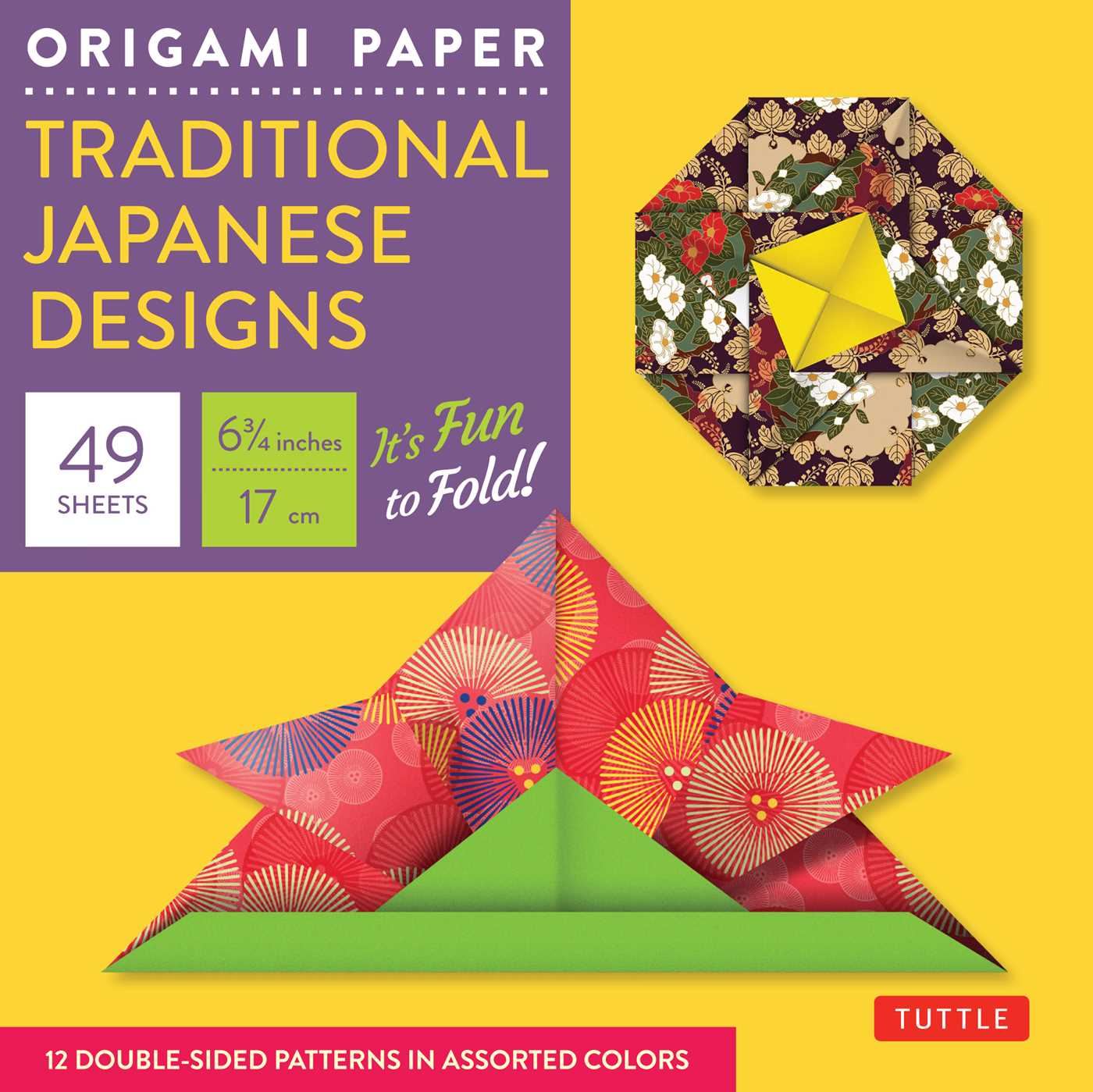 """Origami Paper - Traditional Japanese Designs - Small 6 3/4"""" : Tuttle Origami Paper: 48 High-Quality Origami Sheets Printed with 12 Different Patterns: Instructions for 6 Projects Included"""