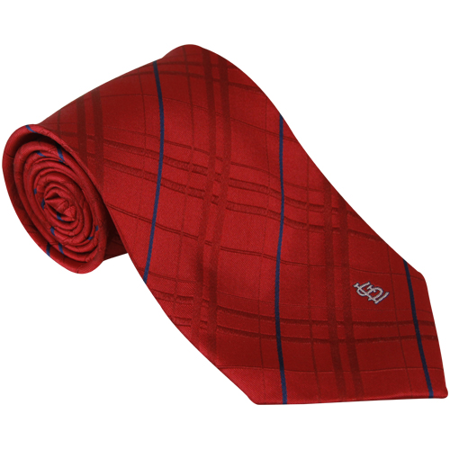 St. Louis Cardinals Oxford Woven Tie - Red - No Size