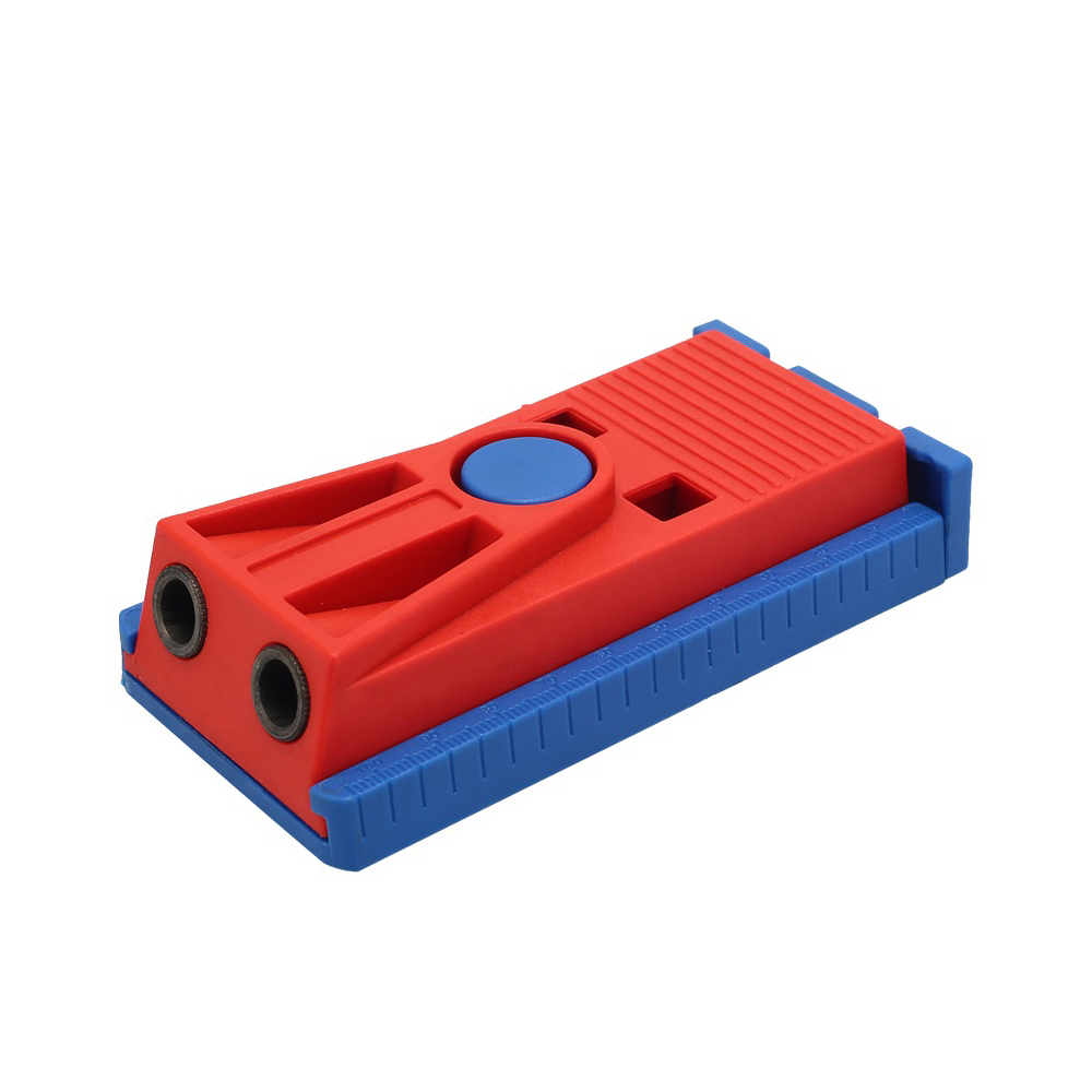 Plastic Oblique Hole Jig Kit System for Wood Working Punch Locator with 9.5mm Puncher and Random Color Plug Woodworking Tool Set
