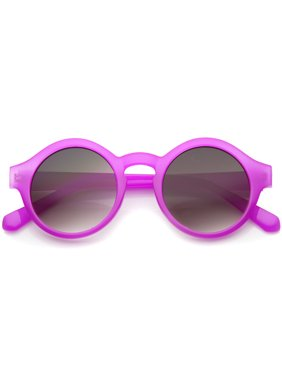 71391dedda Product Image sunglassLA - Women s Bright Pastel Color Retro Horn Rimmed  Round Sunglasses - 47mm