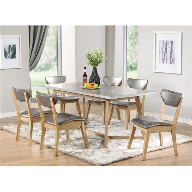 HomeRoots Furniture 286009 34 x 21 x 24 in. Bentwood Silver PU ...