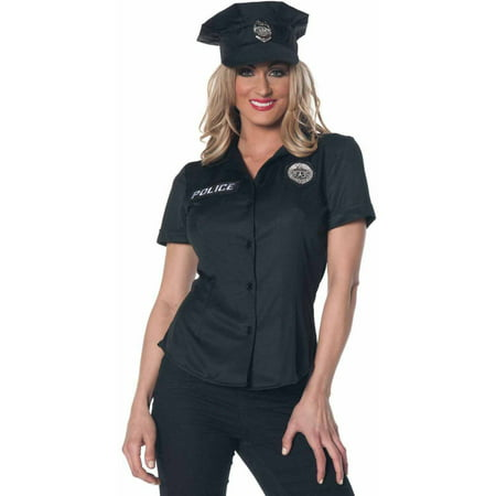 Animal Control Officer Halloween Costume (Police Officer Shirt Women's Adult Halloween)