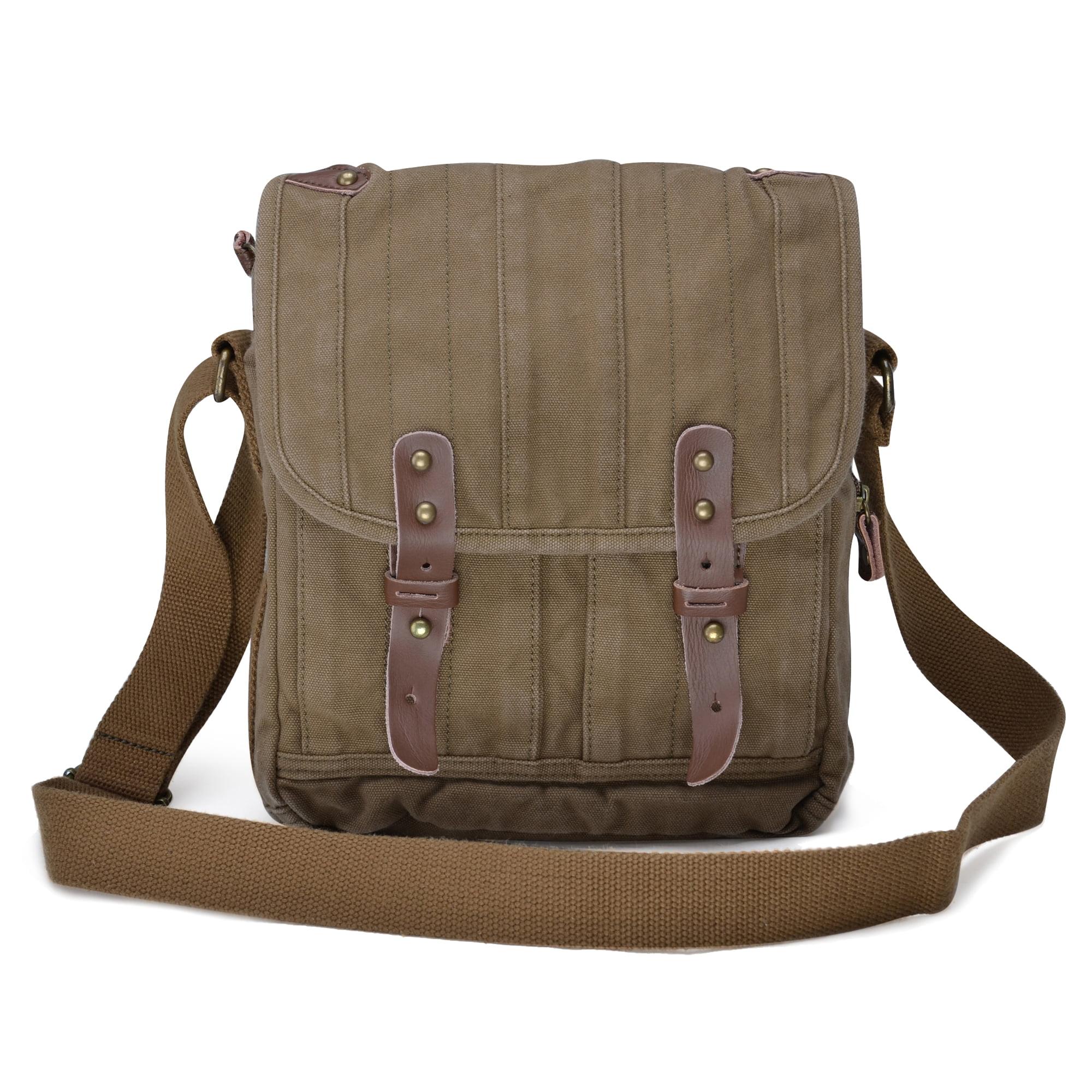 03fec7842788 Gootium Vintage Canvas Messenger Bag Small Unisex Shoulder Satchel ...