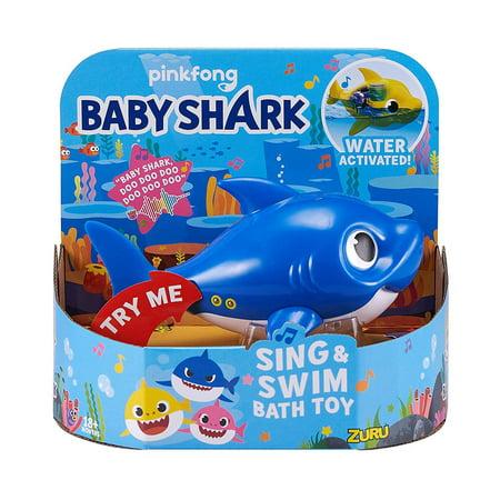 Baby Shark Sing & Swim Daddy Shark Robotic Bath Toy [Blue]