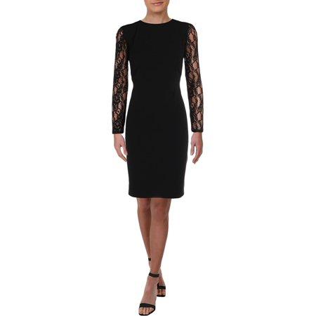 Lauren Ralph Lauren Womens Keanu Lace Long Sleeves Cocktail Dress Long Sleeve Lace Dress
