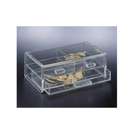 Acrylic Lucite 2 Tier Jewelry Box