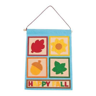 IN-13778637 Happy Fall Banner Craft Kit Makes 12