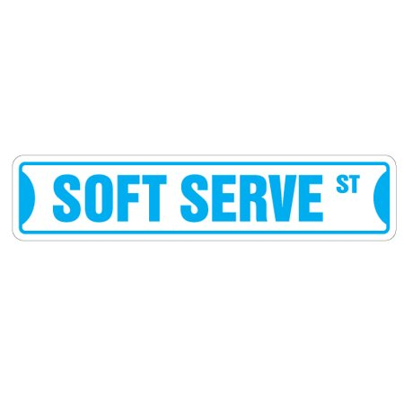 SOFT SERVE Street Sign ice cream shop lover cone | Indoor/Outdoor | 24