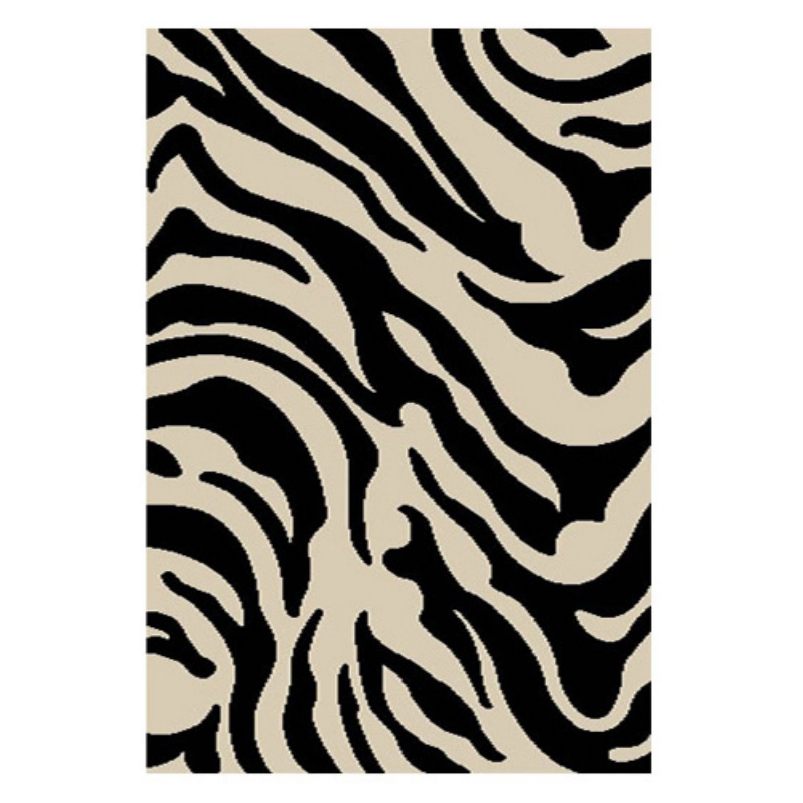 Well Woven Madison Shag Safari Zebra Animal Print Area Rug