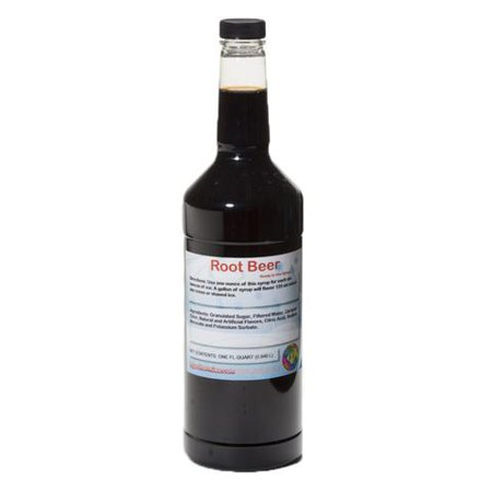 Root Beer Ready to Use Shaved Ice or Sno Cone Syrup Quart (32 Fl Oz)