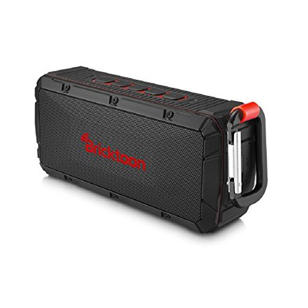 Bricktoon V3 Portable 4.0 Bluetooth 10W Wireless Speaker - FM Stereo - Enhance Bass - Micro SD Player - IPX6 Waterproof 12 hrs Playback - Outdoor/Indoor Durability - Hands Free Speakerphone Mic - image 4 de 4