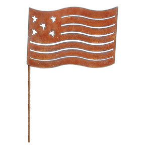 Flag - Rusted Garden Stake Large (Flag Rusted Garden Stake LG)