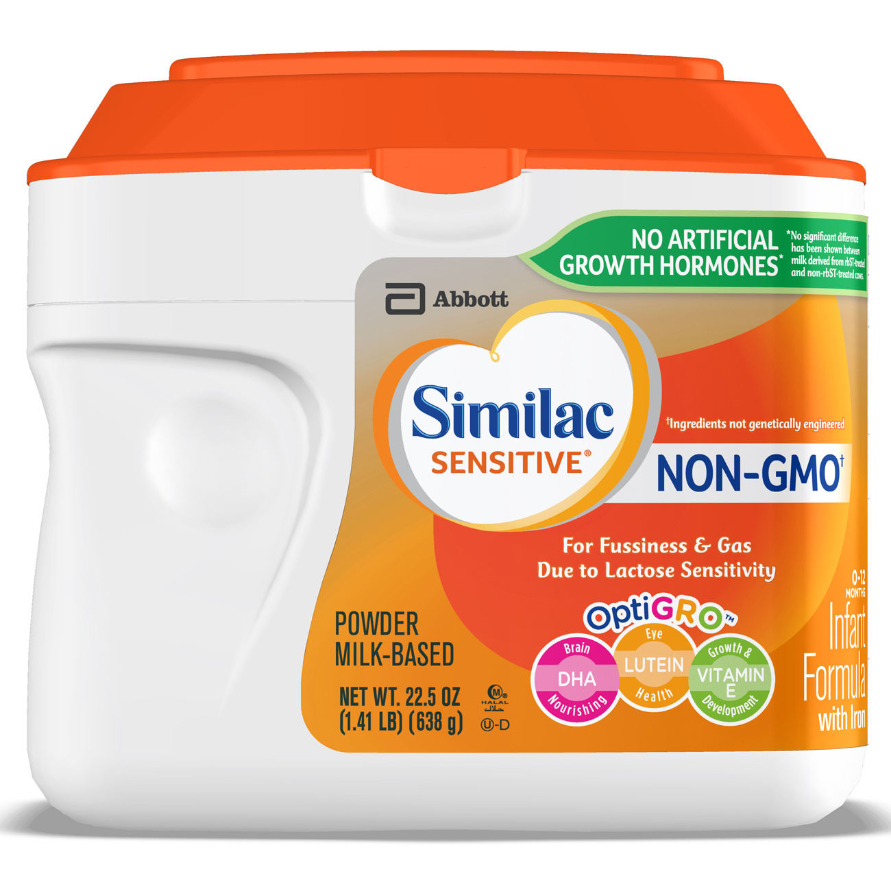 Similac Sensitive Milk-Based Infant Formula with Iron, Powder, 1.41 lb (Pack of 6) by Similac
