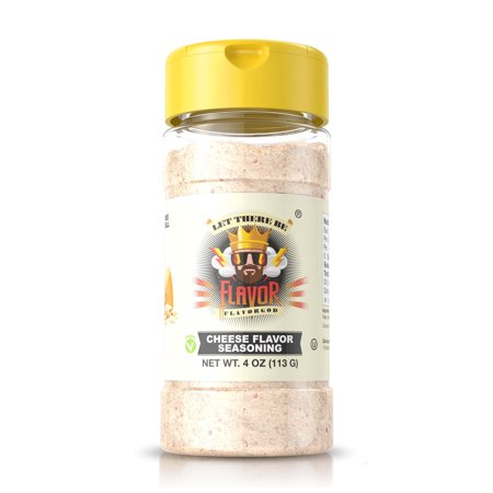 #1 Best-Selling 4oz. Flavor God Seasonings - Gluten Free, Low Sodium, Paleo, Vegan, No MSG (SINGLE SEASONING) (Cheese, 1